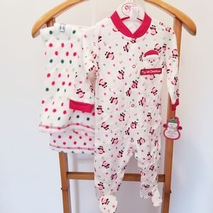 My 1st Christmas by Baby Gear Onesie and Blanket